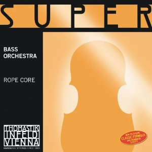 Thomastik Superflexible, Double Bass Strings, Complete Set, 2887.0, 3/4 Size, Orchestral Tuning, Steel Core, Chrome Wound